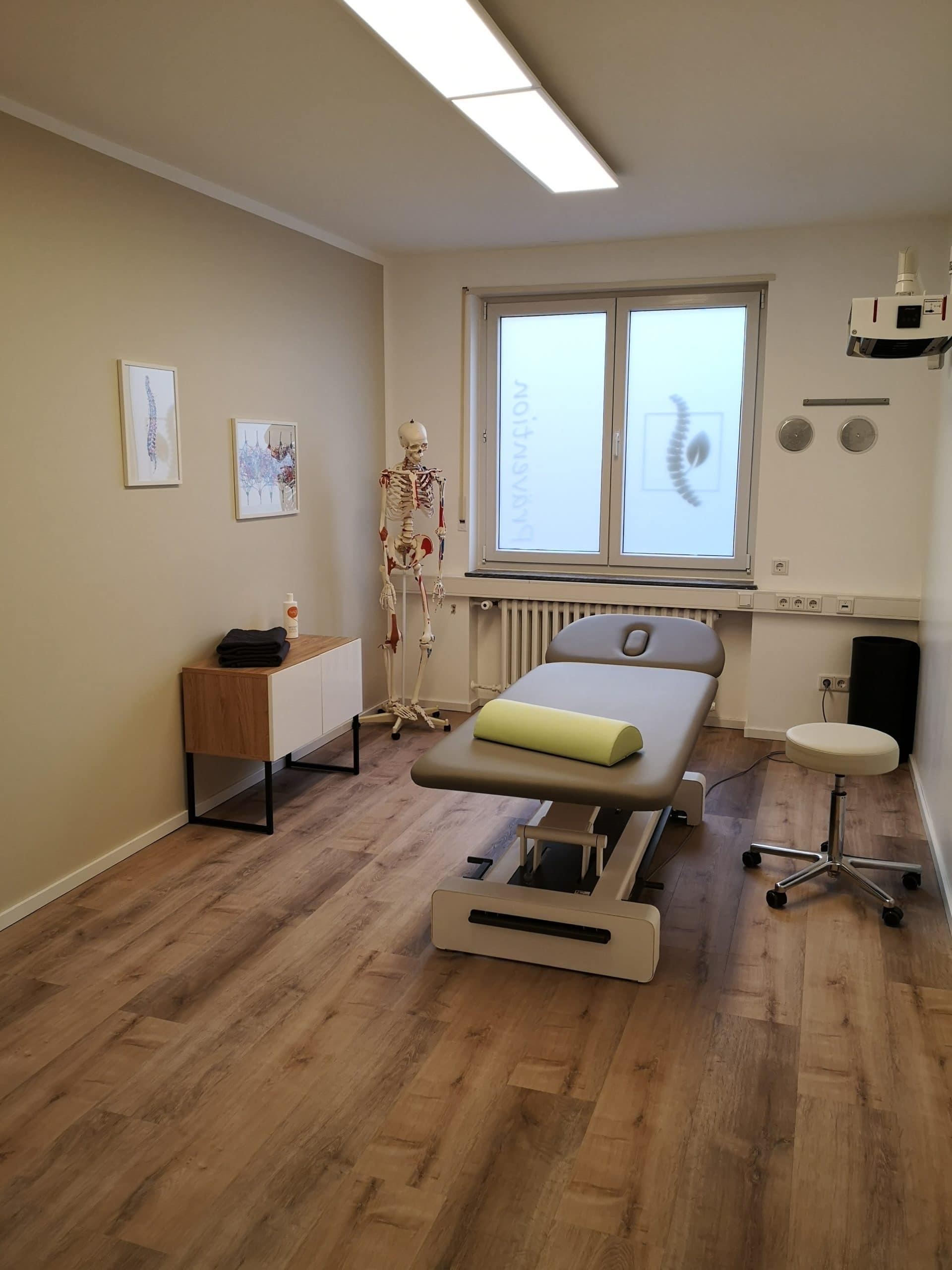 Behandlungsraum für Klassische Massagetherapie in Mannheim